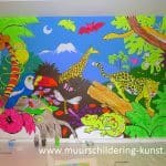 jungle muurschildering blacklight