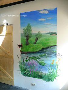 landschap muurschildering laten maken