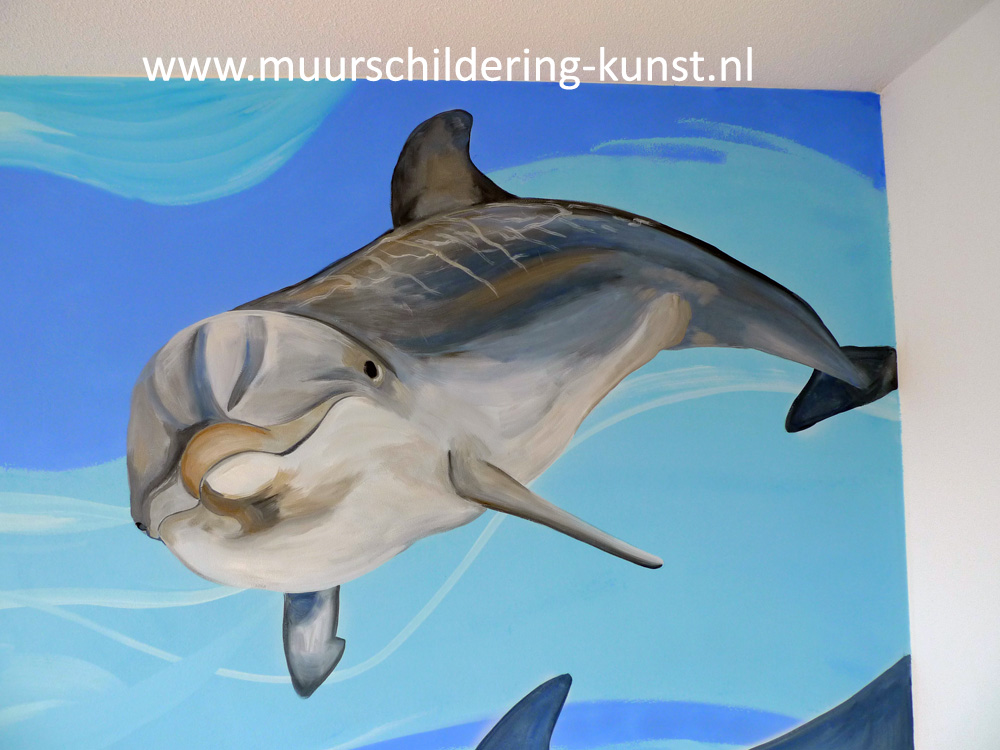 Kinderkamer Lamp Dolfijn : Kinderkamer muurschildering saskia de wit
