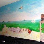 muurschildering landschap muurschildering dieren