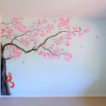kinderkamer muurschildering boom
