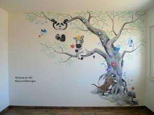 muurschildering babykamer laten maken