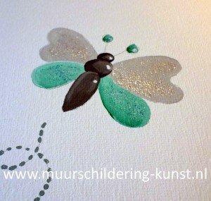 glitter muurschildering