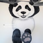 kinderkamer muurschildering panda