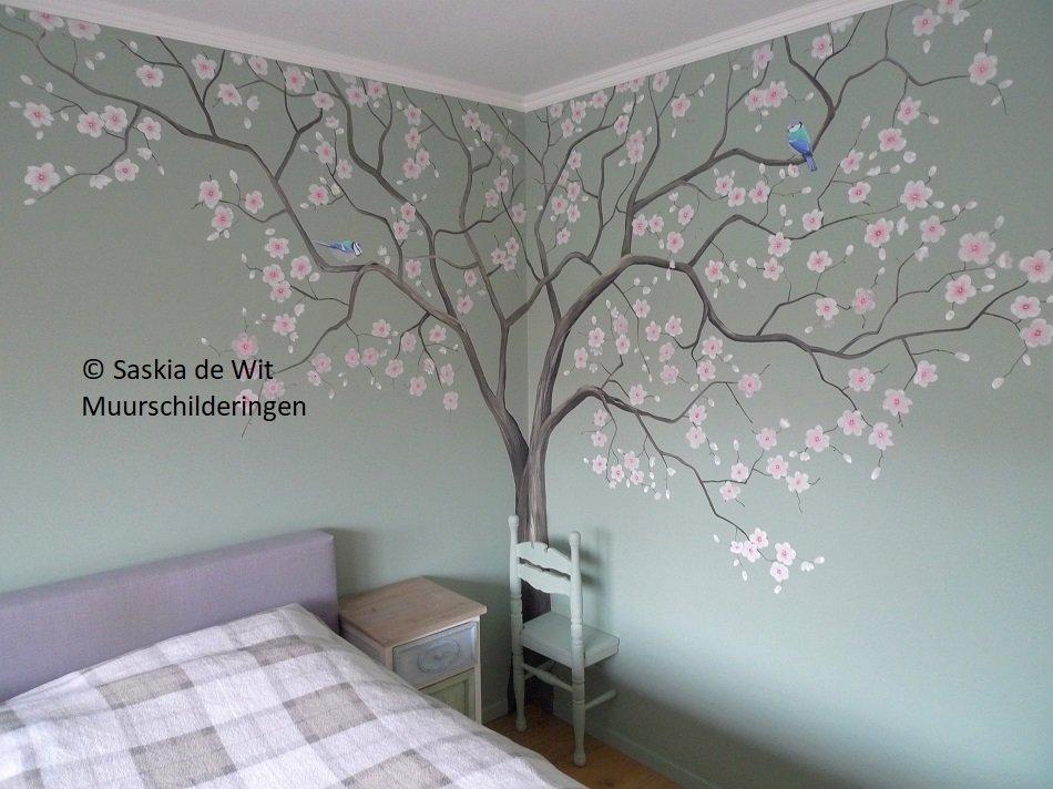 Muurschilderingen Voor Slaapkamer : Muurschildering slaapkamer saskia de wit muurschilderingen