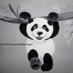 muurschildering panda